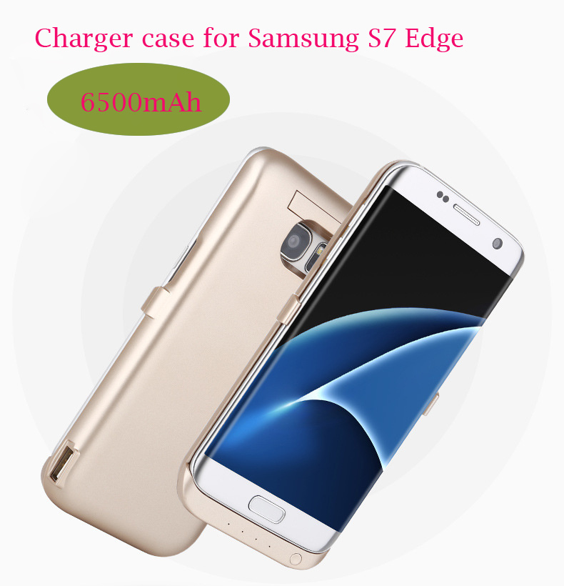 Portable Ultra Thin Backshell Charger Case for Samsung S7 Edge Charge Phone Case External Battery Power Bank 6500mAh