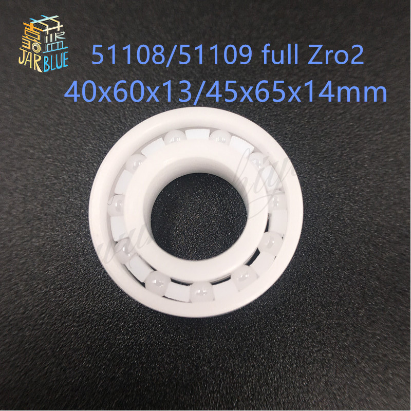 1 pièces livraison gratuite 51108 51109 ZrO2 butée à billes en céramique pleine 40x60x13 45x65x14mm