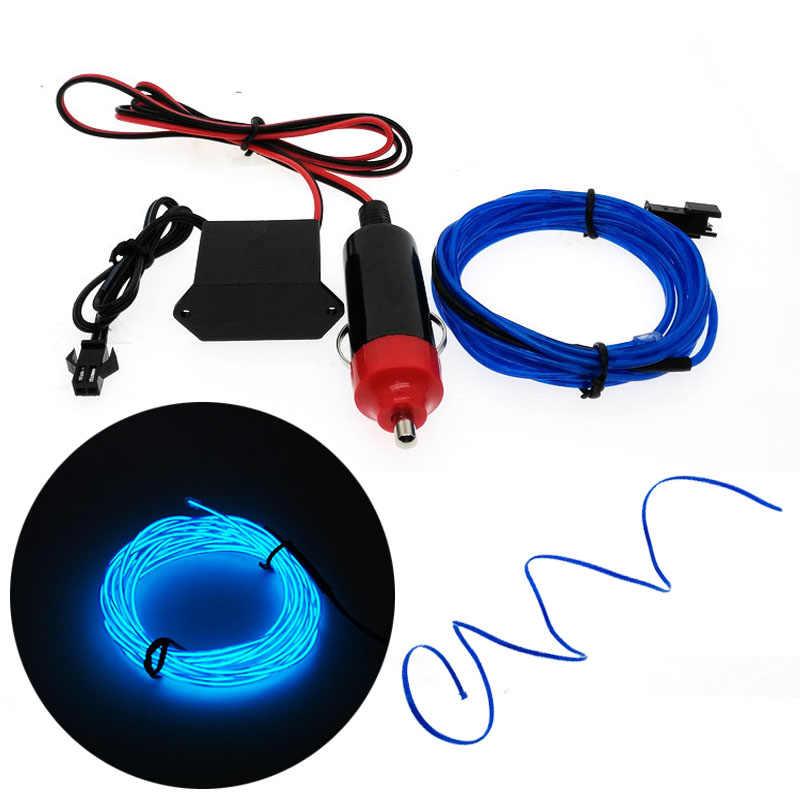 3 v/5 v/12 v Neon Ánh Sáng Dance Party Trang Trí Nội Thất xe Đèn Neon đèn LED Linh Hoạt 2.3 mét EL Wire Rope Ống LED Strip Với biến tần