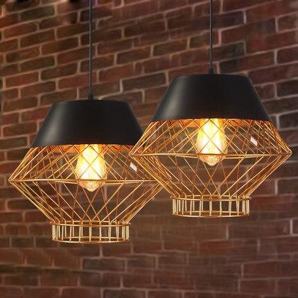 Led modern pendant lamps american pendant lights fixture retro light home indoor lighting restaurant cafes pub