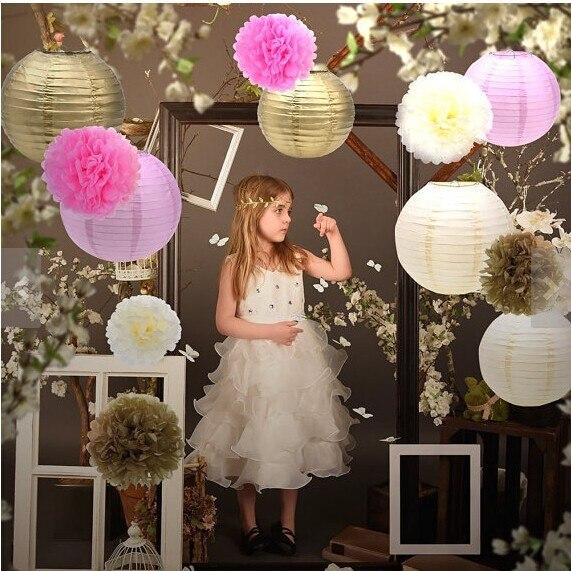 Set von 10/Rosa Seidenpapier Pompons zum Aufh/ängen Blumen Ball Hochzeit Party Bridal Dusche Kinderzimmer Dekoration 8Inch rose