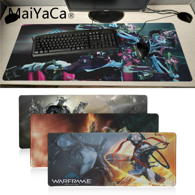 Maiyaca Warframe Game Customized MousePads Computer Laptop Anime Mouse Mat DIY Luxury High-end Protector Mouse Pad Gamer