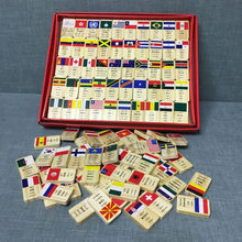 Children Country Flags Wooden Domino Blocks Educational Toy/Kids Wooden National Flag Dominoes Block Set Early learning 100 pcs(China)