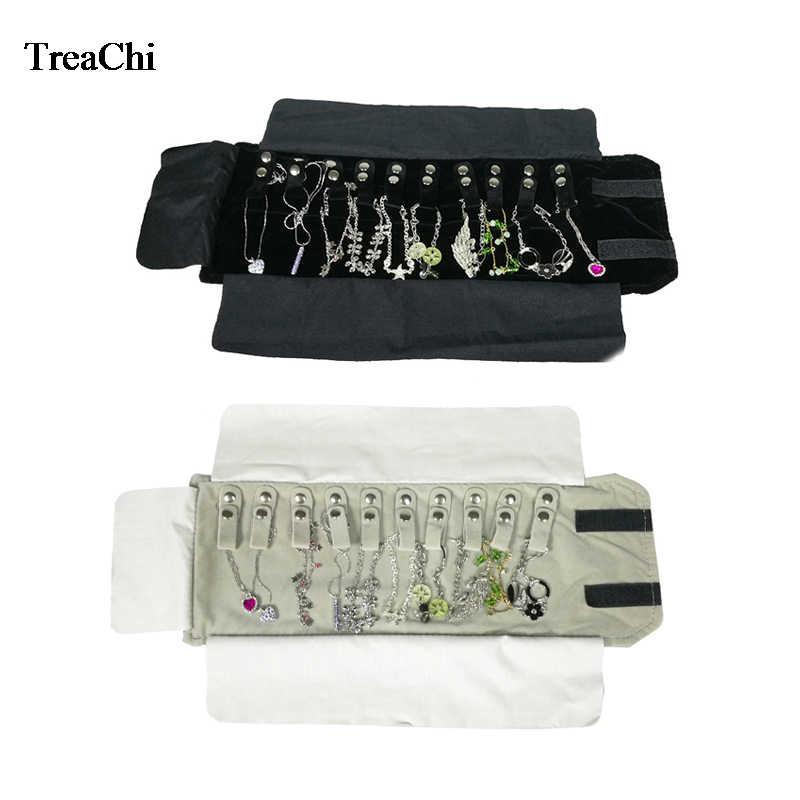 Mini Size Foldable Velvet Jewelry Display Pouch Black Grey Bracelet Pendant Necklace Chain Organizer Travel Roll Bag 12 16 Cm Aliexpress