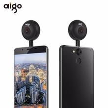 Aigo мини Ai360 VR телефон панорамный Камера 720 градусов видео Камера Двойной объектив с двойной Адаптеры для сим-карт Разъёмы для смартфонов