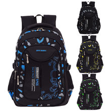 Waterproof Backpack Schoolbag For Male Casual School Bags For Boys 1-3-6 Grade Orthopedic Schoolbag Backpack For Children(China)