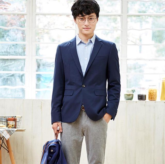 Парадные мужские пиджак высокое качество custom blue coat with a жених простой стиль бизнес случайный мужская куртка