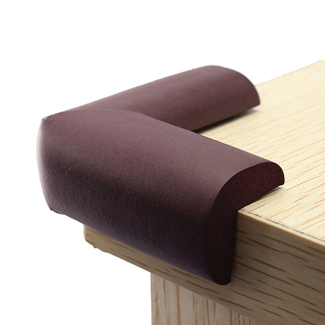 8pcs Edge Protection Corner Protection Child Safety Baby Safety Cushion Baby Soft Brown Black White