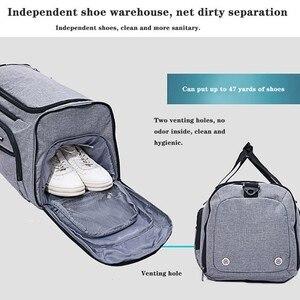 Image 3 - Bolsa de hombro con separación de ropa seca y húmeda, bolso deportivo para Fitness, equipaje de negocios, ropa, zapatos, bolsa de almacenamiento, organizador de accesorios