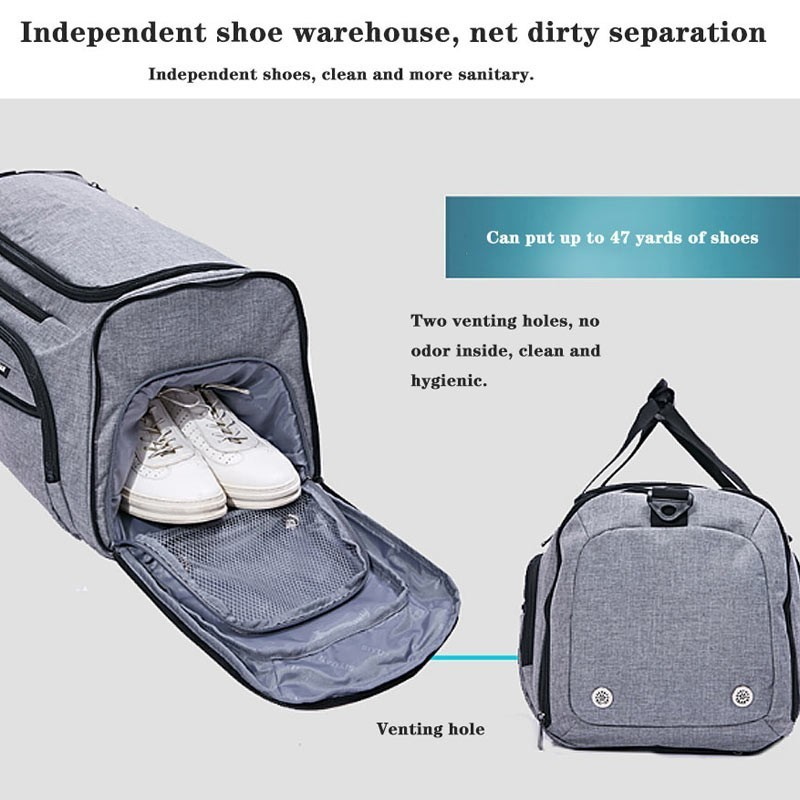Image 3 - Dry And Wet Separation Shoulder Bag Handbag Sports Fitness Bag Business Luggage Clothes Shoes Storage Bag Accessories Organizer-in Storage Bags from Home & Garden