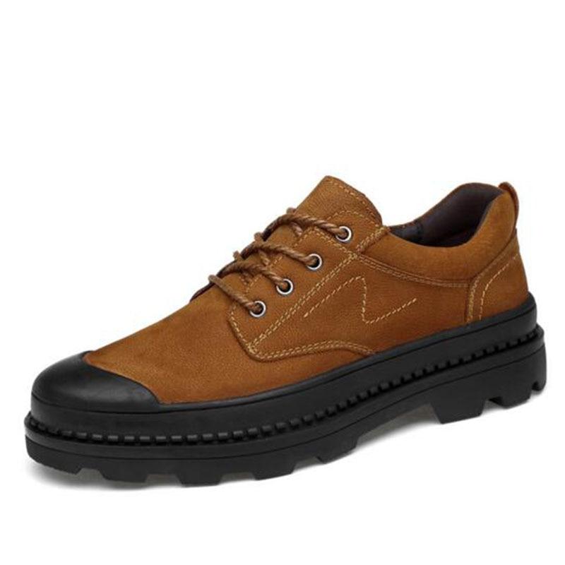 Őszi téli meleg eladó férfi lakások Platform valódi bőr pamut cipő ... 478d363d07