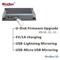 5 В дома 12 В автомобиля MiraBox 5 г Беспроводной автомобиля MirrorLink Поддержка miracast Allshare Cast sdr с USB RCA порт двухдиапазонный зеркалирование