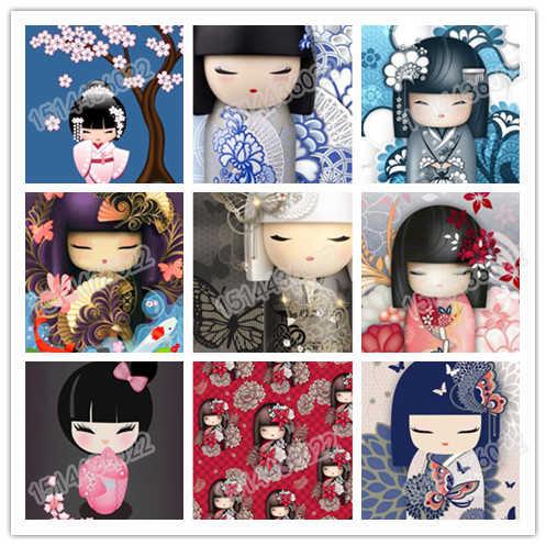 """Алмазная вышивка 5D """"сделай сам"""", мультяшное кимоно, украшение для дома, стразы, вышивка крестиком, подарок 2019"""