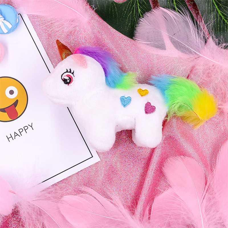น่ารัก Mini Unicorn Plush Filled เด็กของเล่นพวงกุญแจกระเป๋า Charm สีเต็ม Plush การ์ตูนสัตว์ของเล่นเด็กของขวัญพวงกุญแจ- TOY162