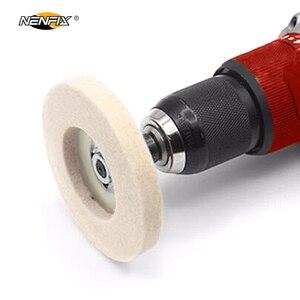Image 5 - 1/3/5 adet 4 yünü keçe tekerlek disk pedi açısı öğütücü parlatıcı balmumu Metal keçe parlatıcı disk pedi döner aracı aşındırıcı taşlama