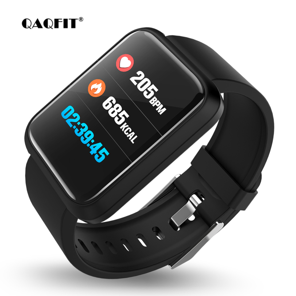 QAQFIT Smart Uhr Schrittzähler Herz Rate Blutdruck Überwachung Smartwatch Sport3 IP67 Wasserdichte BT4.1 Smart Armband Mann