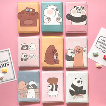 Travel Abroad Cartoon Little Fresh Bear Passport Sheath Waterproof  Passport Cover , passport wallet