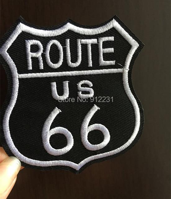 Us Route 66 Logo Lapje Van Stickers Ons Snelweg Badge Logo Jacket