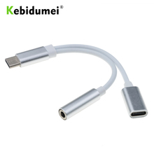 Audio-Charging-Adapter Headphone-Jack Mini-Usb Xiaomi Kebidumei with for Type-C Male-To-Female
