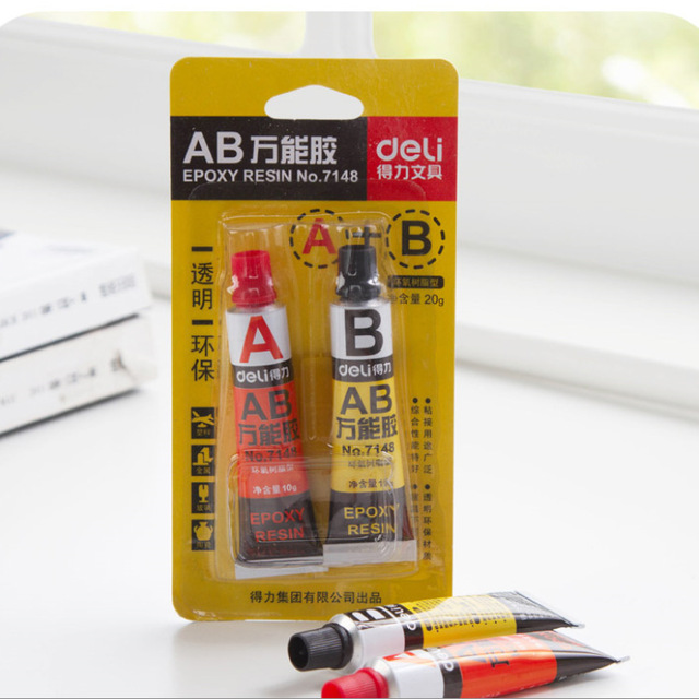 US $9 56 |AB glue A+B all purpose Adhesive Water Super Liquid Glue Strong  Bond Fast For Leather Rubber Metal Wholesale-in Liquid Glue from Office &