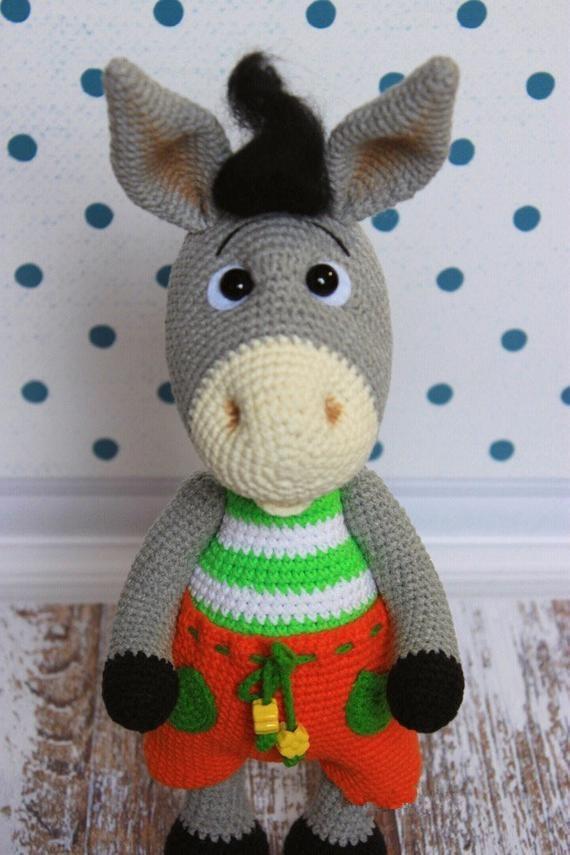 crochet toys  amigurumi  donkey model number b0141