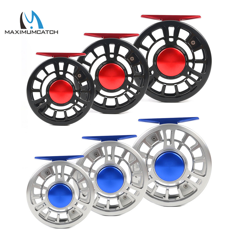 Maximumcatch Top Grade NVC 3/4/5/6/7/8WT Fly Reel CNC Machined Aluminum Fishing Right or Left-Handed