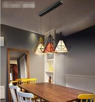 Минималистский ресторан четыре подвесные светильники столовая кухня Бар стекло легкая еда