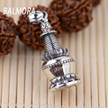 New Unique 100% Pure 925 Sterling Silver Jewelry Vintage Buddhist Pagoda Charms Pendants for Necklaces Women Men Jewelry SY10287