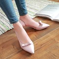 Sweet Women's Shoes Pointed Casual Pumps Bow Shoes Womens Shoes Heels Sy-2275