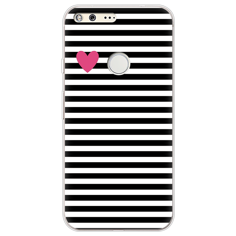 Case For Google Pixel Case Silicone Ultra Thin Soft TPU Rubber Transparent Cat Watermelon Clear Back Love Cartoon Print Cover
