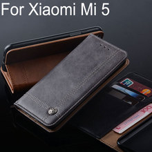for Xiaomi mi5 case Luxury Leather Flip cover with Stand Card Slot Vintage Business Cases for Xiaomi mi5 mi 5 Without magnets