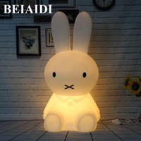 BEIAIDI Big Rabbit Dimmable Led Night Light 50CM Rabbit Night Lamp Animal Cartoon Decorative For Baby