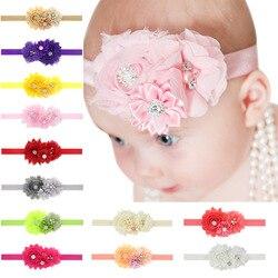 Bebê menina bandana infantil cabelo floral pano laço arcos recém-nascido headwear tiara headwrap presente crianças bandagem flor fita de cristal
