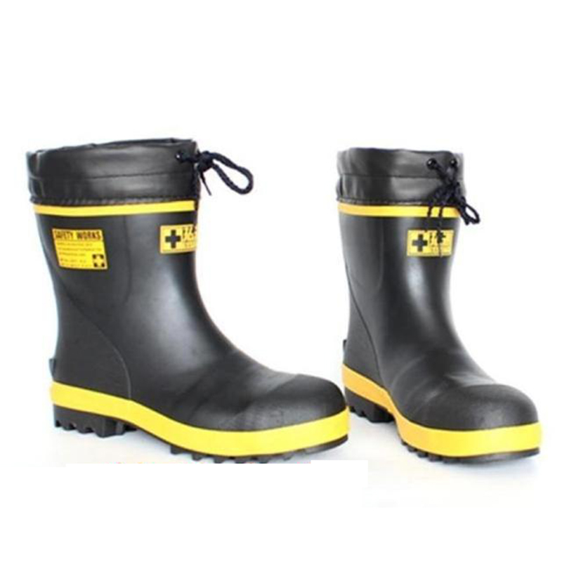 2016 new short rubber safe rainboots winter fishing boots for Rubber fishing boots