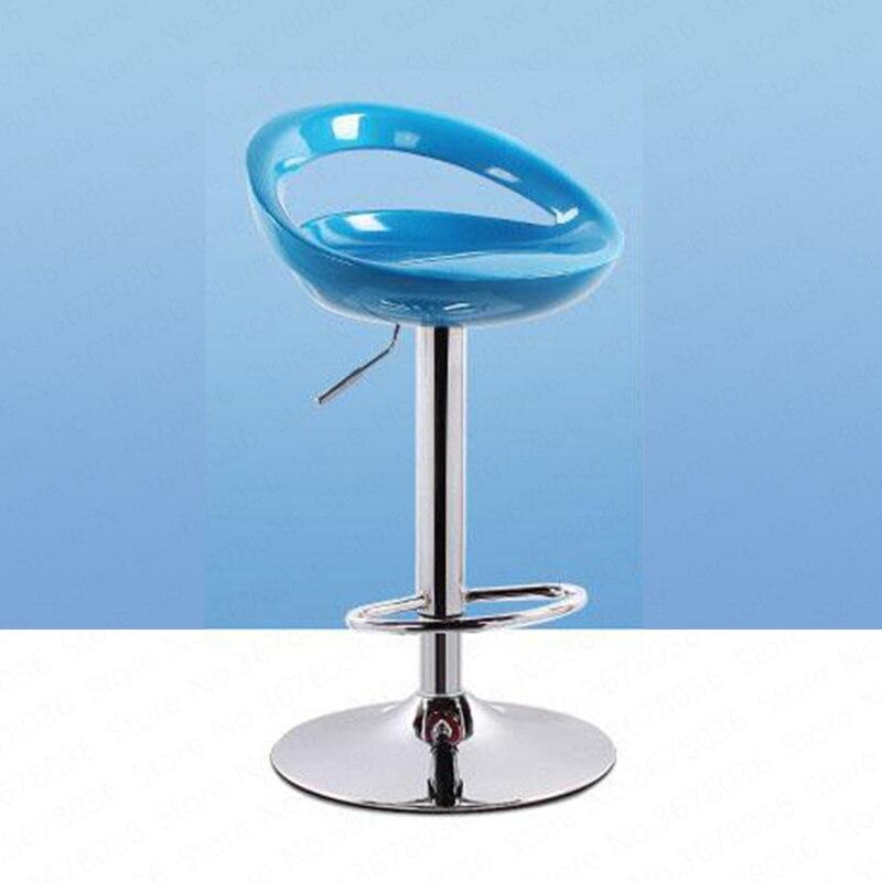 Bar Stool High Modern Minimalist Chair Mobile Phone Shop Back Home Lift Bar Chair  Tabouret Metalic Lounge  Counter  Minimalist