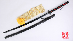 56inch For Bleach Anime Kurosaki Ichigo Sword Black Real Steel Blade Zangetsu Decorative Cosplay Prop Sharpness