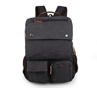 New Style Canvas Black Extra Large Backpacks For Teenagers Rucksack 9022A