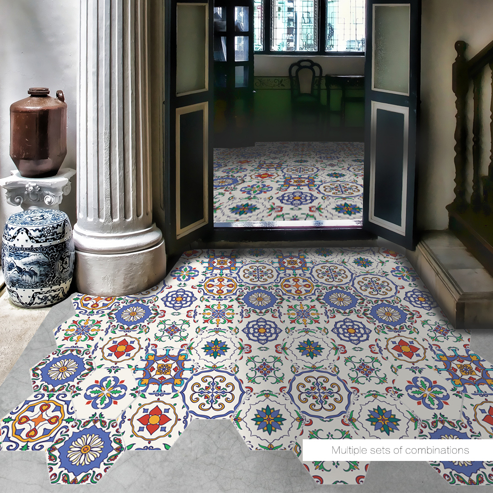 Funlife Diy Morocco Decor Floor Stickers Geometry