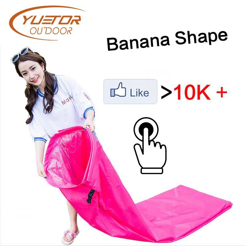 Bananenform Faul Tasche Luft Sofa für Musik Party Schnell Aufblasbare Laybag Outdoor Camping Tragbare Falten Schlafsack