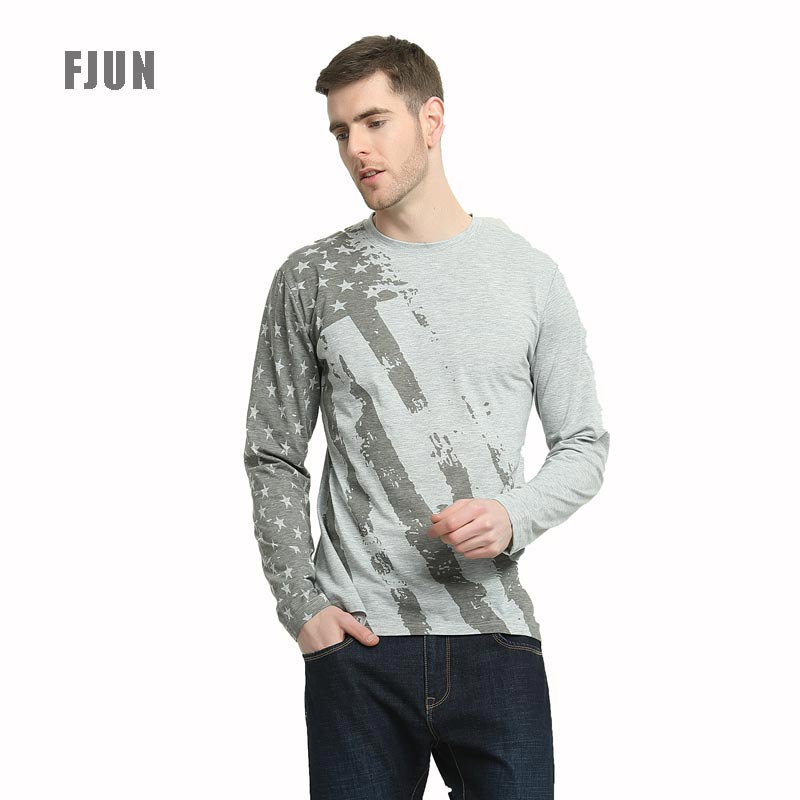 FJUN T Shirt USA American Flag Printed T-shirt Short Sleeve/pullover Casual O-neck/Pullover White/Gray Slim Fitness 2018 Fashion