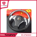 Hot Sales 14 Inch MOMO Racing PU Steering Wheel With Horn Line  RS-STW003