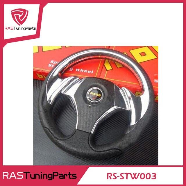 Hot Sales 14 Inch MOMO Racing PU Steering Wheel With Horn Line  RS-STW003
