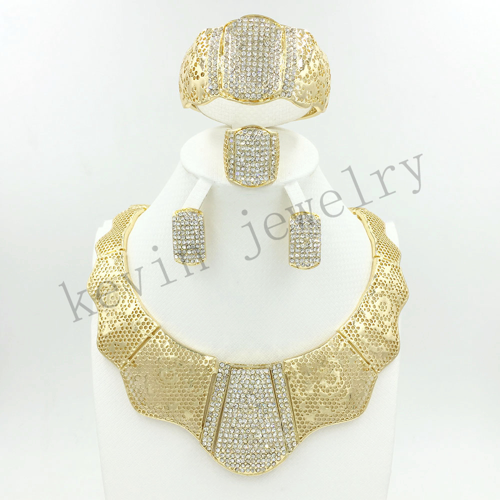 African dubai Wedding Jewelry Sets gold jewelry sets gold color ...