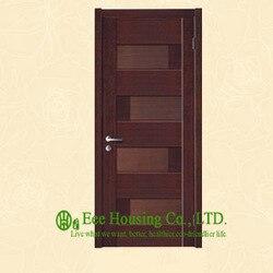 40mm dicke holzfurnier tür für wohn villa, schaukel typ tür, innere & nach außen öffnende eingangstür, MDF Holz tür