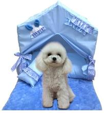 Pet supplies new fashion Korean pet dog bed portable house foldable lace princess washable