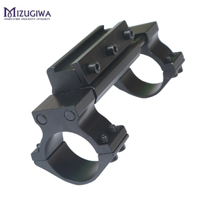 Image 2 - One Piece Airgun Rifle Scope Mount 25.4mm / 30mm Double Ring W/Stop Pin 11mm Rail Hunt Weaver Rail Mount Adapter With Flat top