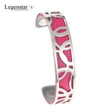 Legenstar Bijoux Jonc Interchangeable Cuff Bracelet Manchette Femme Argent 14 mm Stainless Steel Bracelets Bangles For Women