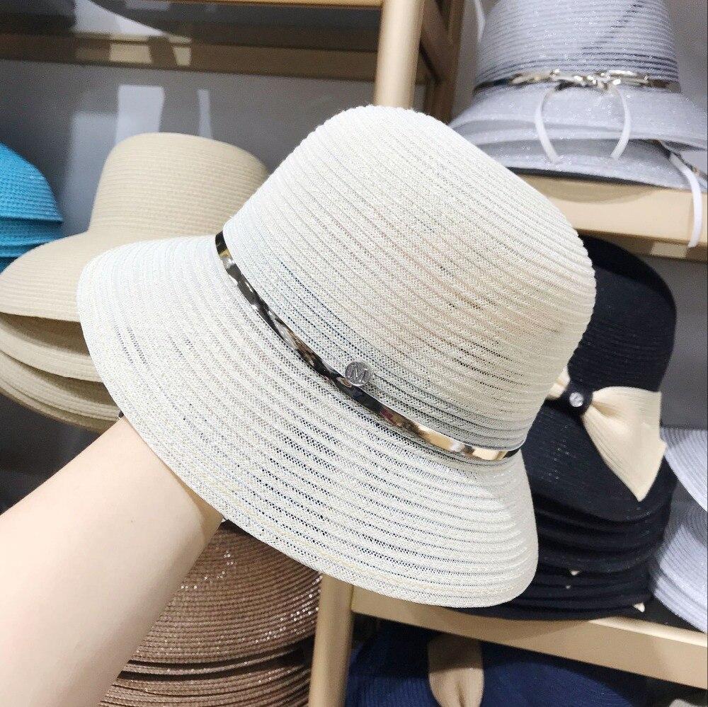 01904-yu52212551 Neue Gestreiften Transparente Filament Leichte Atmungsaktive Dame Eimer Hut Im Freien Frauen Freizeit Urlaub Kappe