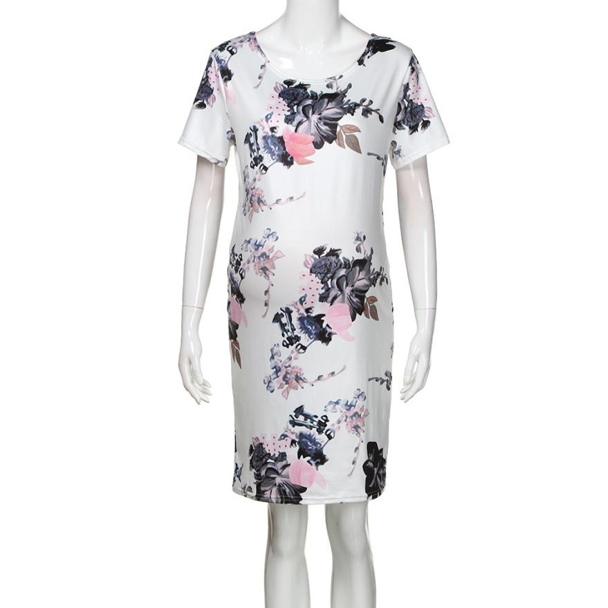 Mooistar2 #4005 Womens Mother Casual Floral Pregnants Dress For Maternity Clothes