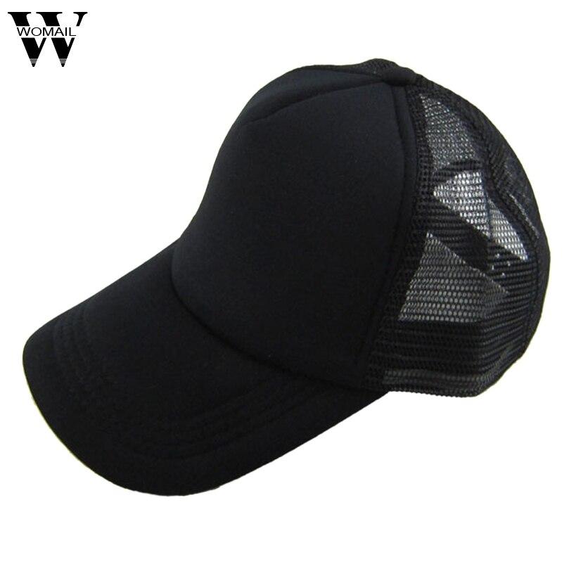 Amazing Unisex Casual Hat Solid Baseball Cap Mesh Blank Visor Hat Adjustable  Cap for Men Women